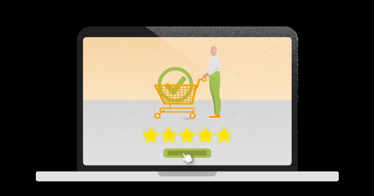 experiência de compra online